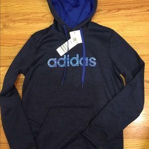 Adidas Blue and black climawarm Hoodie NWT M